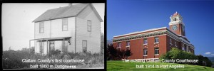 Clallam County Courthouse then and now