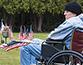 Veteran in a wheelchair