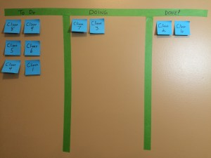 Kanban on computer screen