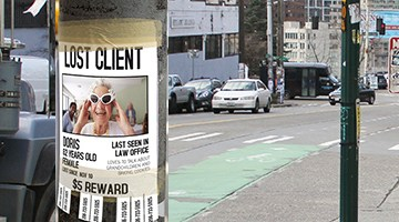 Lost client flyer