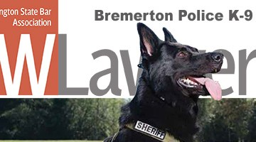 Cover of November NWLawyer showing K-9