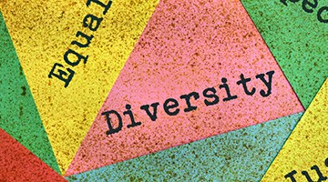 diversity and tolerance on multicolor background