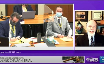 Derek Chauvin trial with Judge Tollefson commenting on KING 5