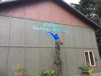 Business signs can also be placed on the outside of buildings