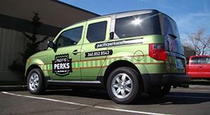 Pacific Perks Car Wrap
