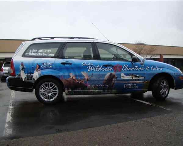 WildRose Charters Vehicle Wrap