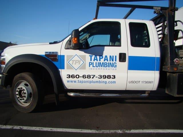 Tapani Plumbing Truck Wrap Advertise