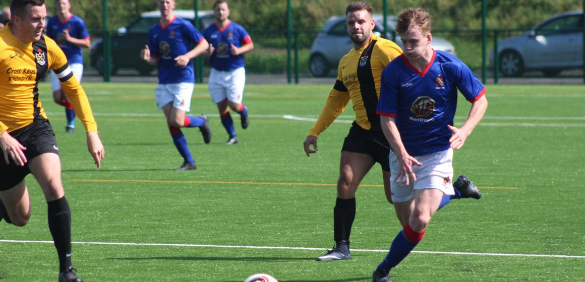 Dylan Summers-Jones makes it eight goals in three games as Bangor 1876 hit double figures against Caergybi