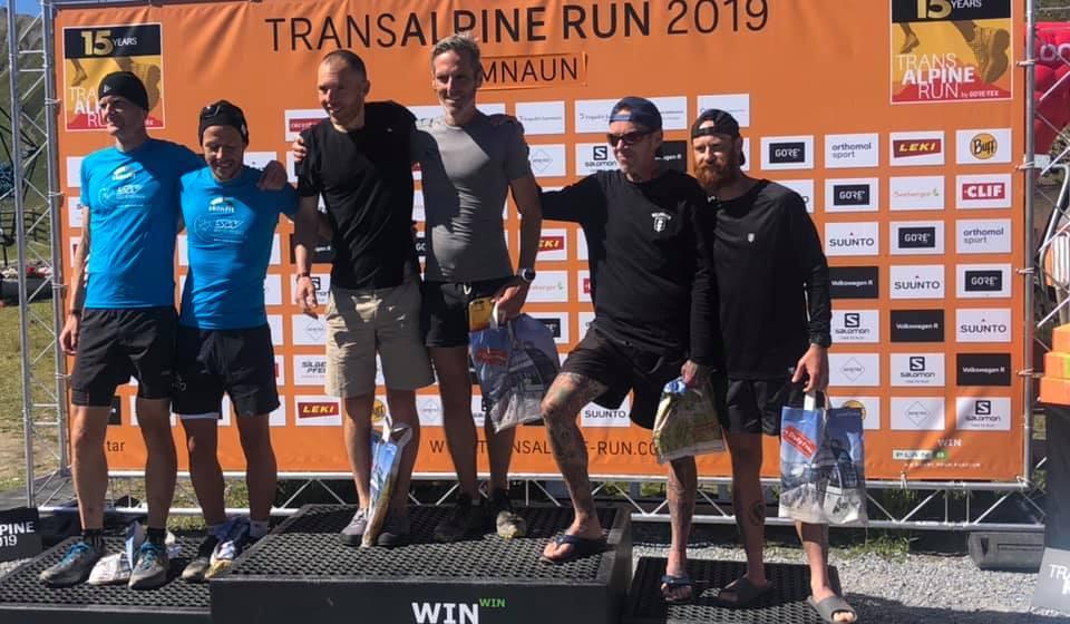 North Walian is part of Dragons Slayers team finishing top Brits in Transalpine Trail Run