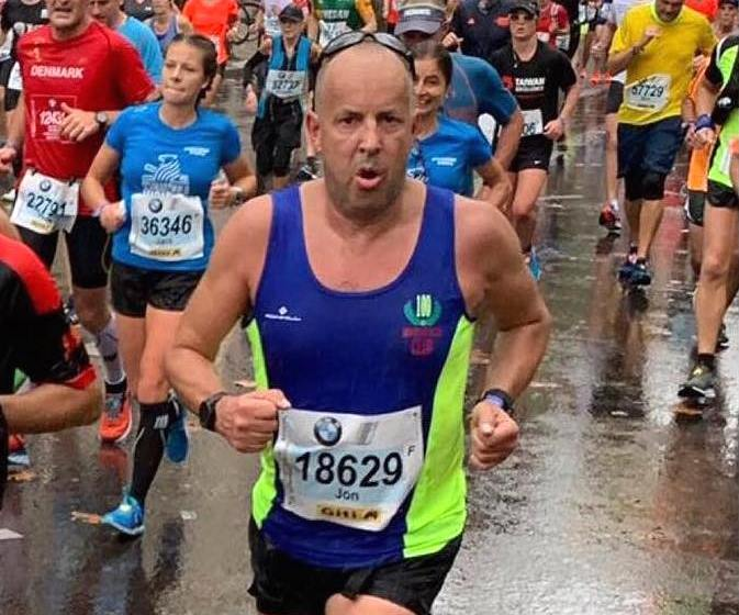 North Wales Road Runner Jon Evans clocks course PB at Berlin Marathon