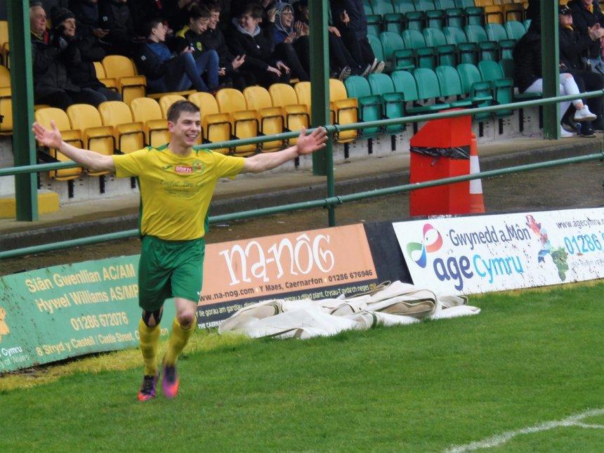 Caernarfon Town's Darren Thomas wins Goal of the Decade