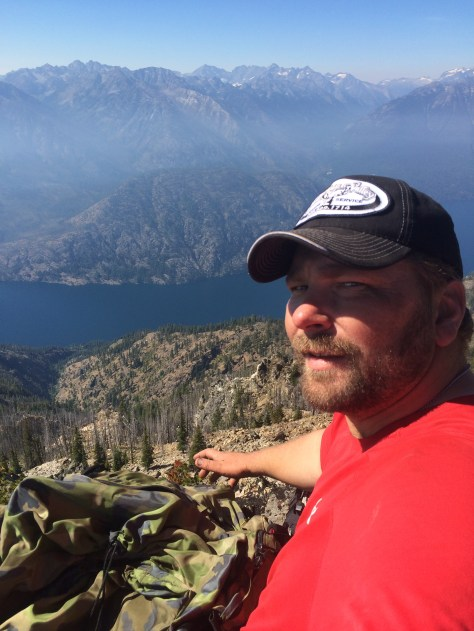 The busy life of a full-time hunting and fishing guide doesn't always provide time for reflection or relaxation, and even here Jerrod Gibbons had to hike his feet off to find peace on a goat-less ridge overlooking Lake Chelan. (OKANOGANVALLEYGUIDESERVICE.COM)