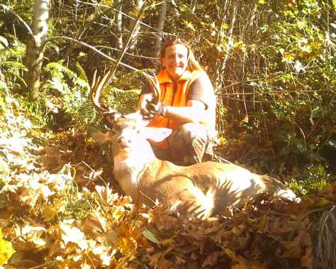 Western Oregonians face increasing challenges finding places to hunt as timber companies go to fee-access programs. But whether working available state or national forest ground or purchasing a permit, hunters like Misty Fox should find bucks this year, thanks to good carryover from last season and an easy winter. Fox dropped this nice blacktail with a 7mm in late October a couple seasons back. (BROWNING PHOTO CONTEST)