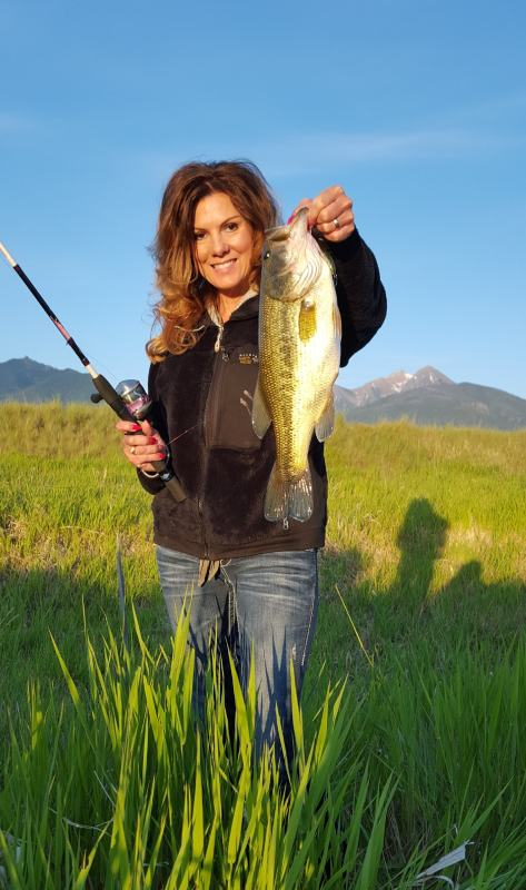 Originally from Minnesota, Sheila Larrson calls Northwest Montana her home these days, and she enjoys chasing everything from largemouth and pike to mountain trout. (ANDY LARRSON)