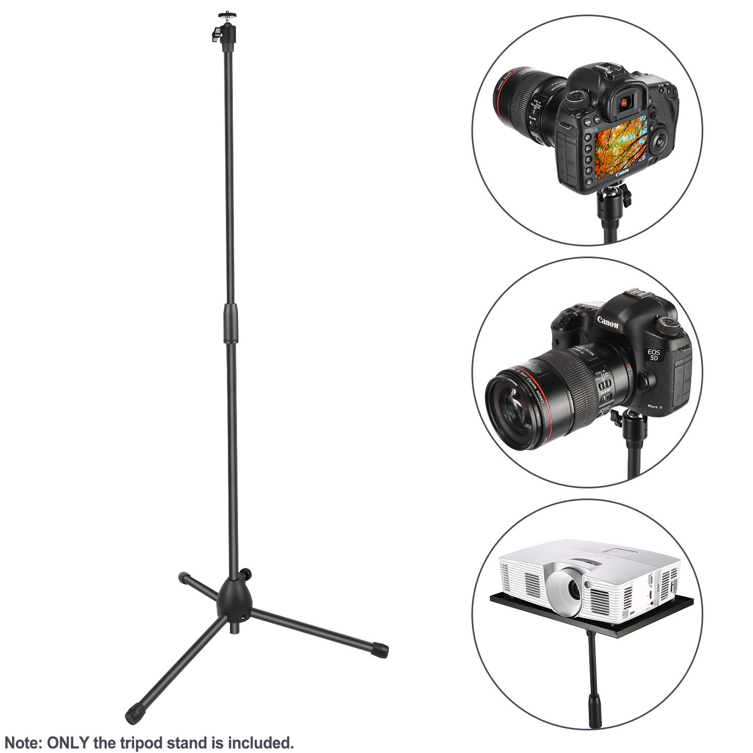 Floor Tripod Stand With Tray Holder And Tablet Mount
