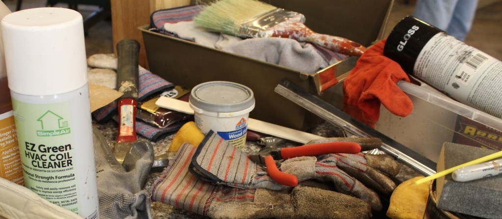 Clean up and repair tools and supplies