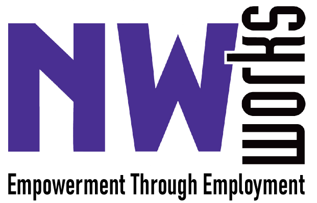 Image of NW Works logo with the text NW Works Empowerment through Employment