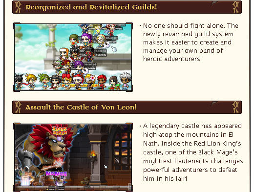 Discover the Ultimate Explorer and the new Cygnus Knights! Reorganized and Revitalized Guilds!