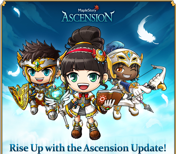 Rise Up with the Ascension Update! Maple World is rising from the ashes of Chaos. Like the Phoenix, we have emerged reborn, renewed, and ready to face new threats with new powers.