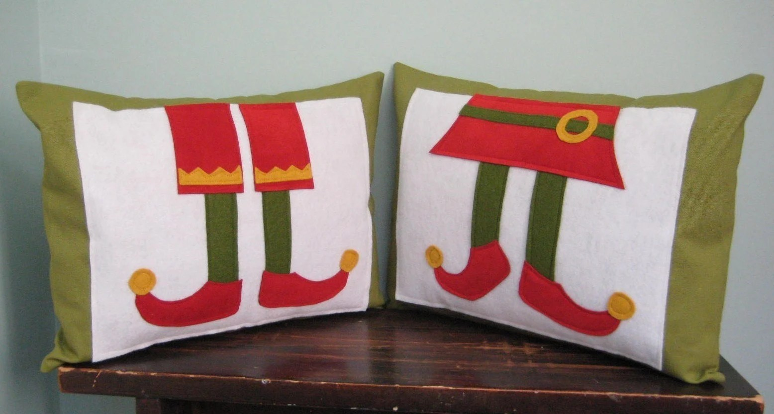 Girl and Boy Elf Pillow Covers