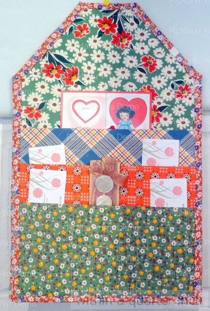 Fabric Organizer made of Fabric Get organized this year... someone should.