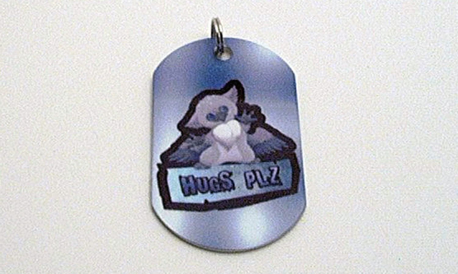 Hugs Plz Owl Dog Tag