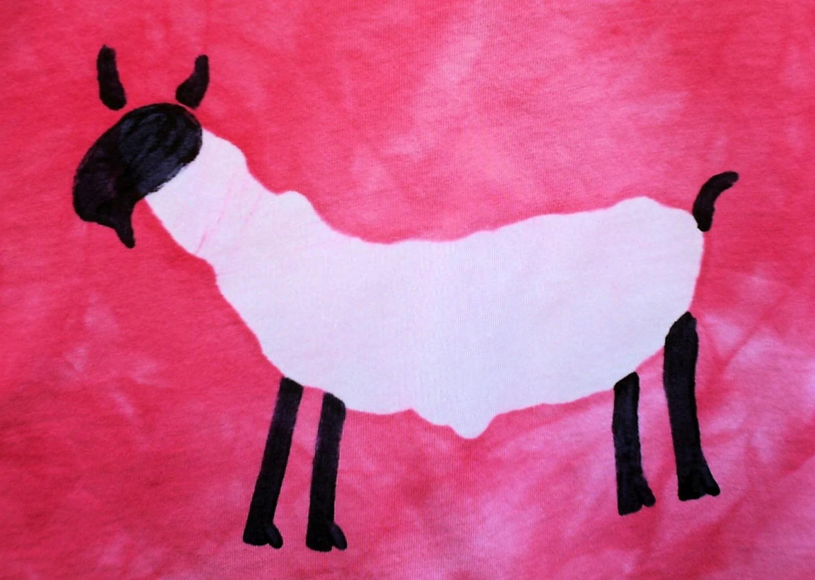 GOT FIBER unisex XL pink batik GOAT tshirt