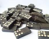 Vintage wooden domino