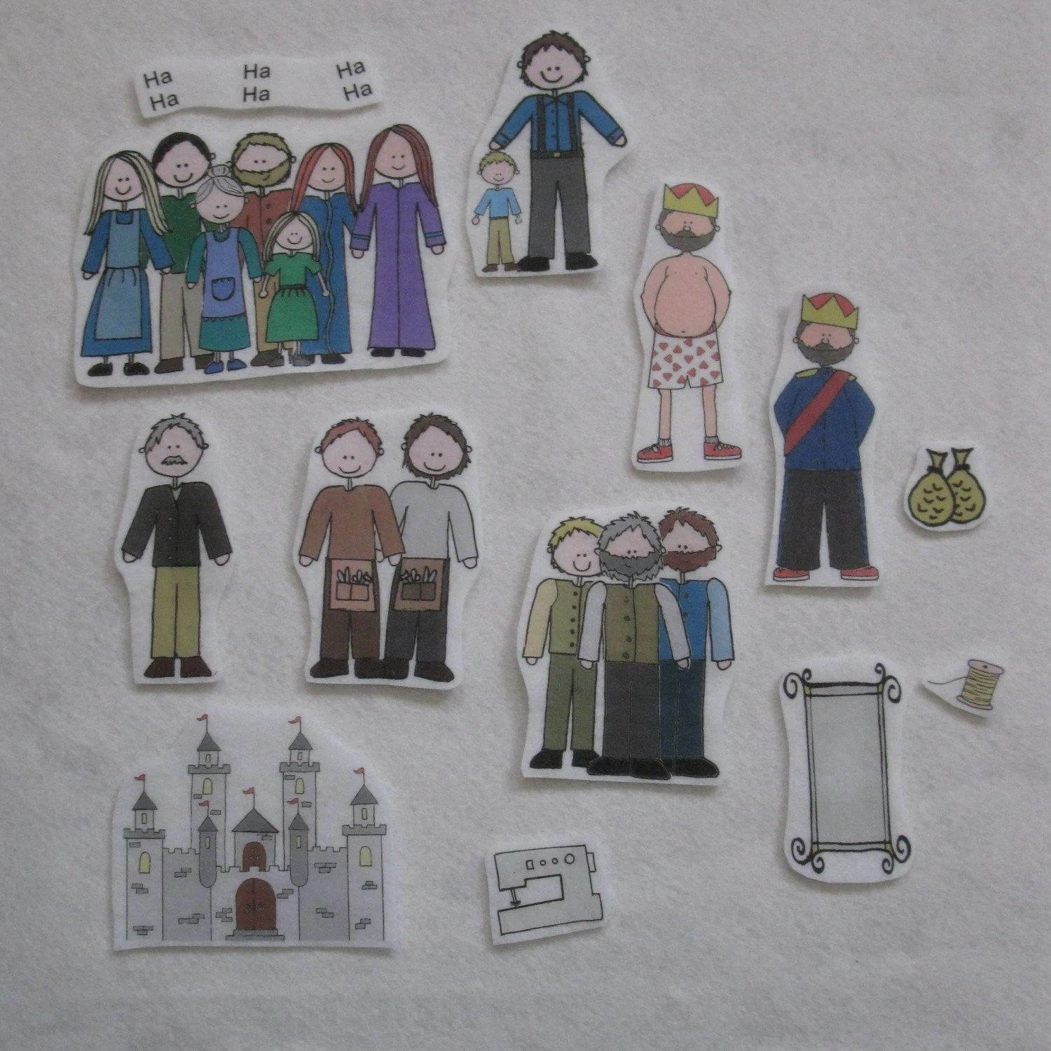 Emperor's New Clothes Flannel Board Felt Story