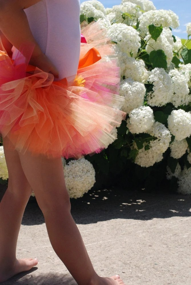 Tutu of Summertime with Orange, Yellow, and Fuschia Tulle
