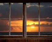 Wall decal, Atlantic Sunrise window view-large 24x36
