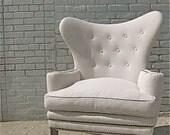 sale.... mid century wingback tufted ROMA chair