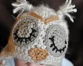 Furry Sleepy Owl Hat