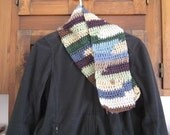 scarf with button closure