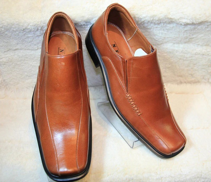 Genuine Leather Men shoe-T482&T209 BROWN