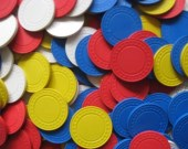 Vintage Pressed Clay Poker Chips
