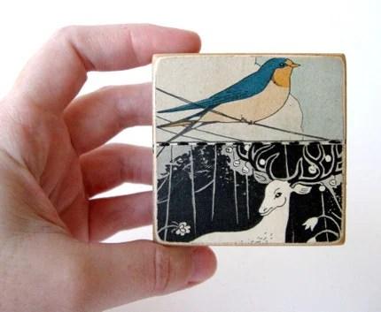 Dear Bird - COLLAGE BLOCK
