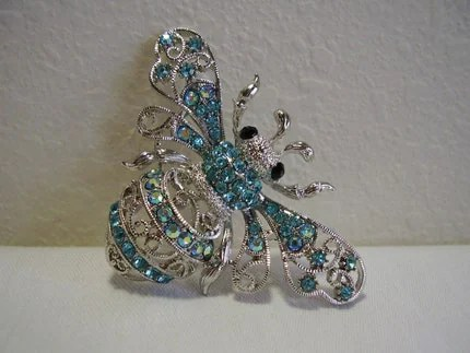 Vintage Bee Brooch with Swarovski Crystals