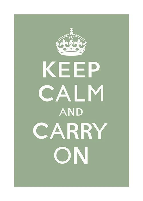 Keep Calm and Carry On (asparagus) - 13 x 19 Archival Print