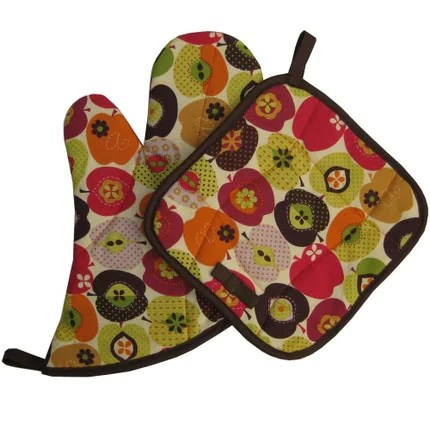 Retro Apples - Mitt Set