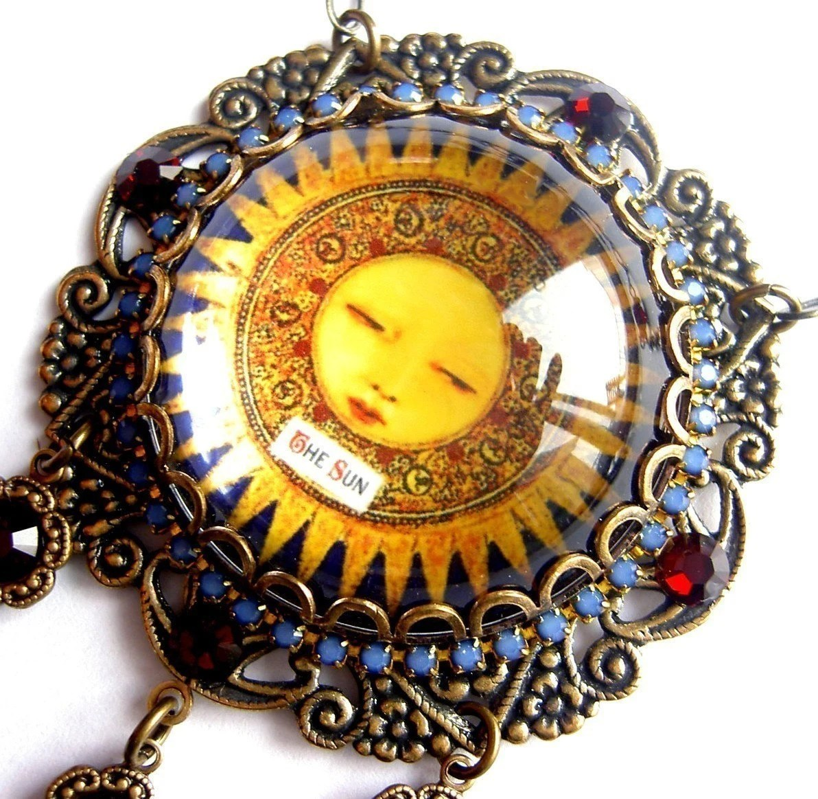 The Sun - Tarot Necklace - Carnivale Mystickal