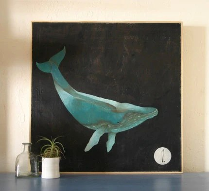 Humpback Whale Painting by Lisa Congdon