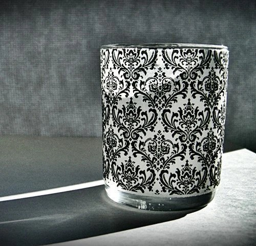 1 set of 15 Madison Damask print votive, candle wraps for wedding, home decor, office, gifts, place cards, bridal shower, reception