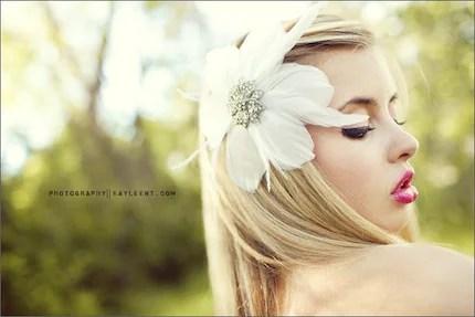 anabelle- white flower fascinator