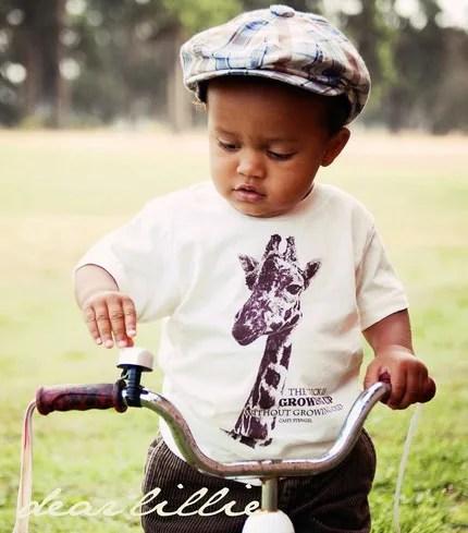 Giraffe Organic Cotton Toddler Tshirt in Natural - K