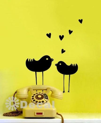 Love Birds Wall Art Decal Vinyl Sticker Home Decor Wallpaper