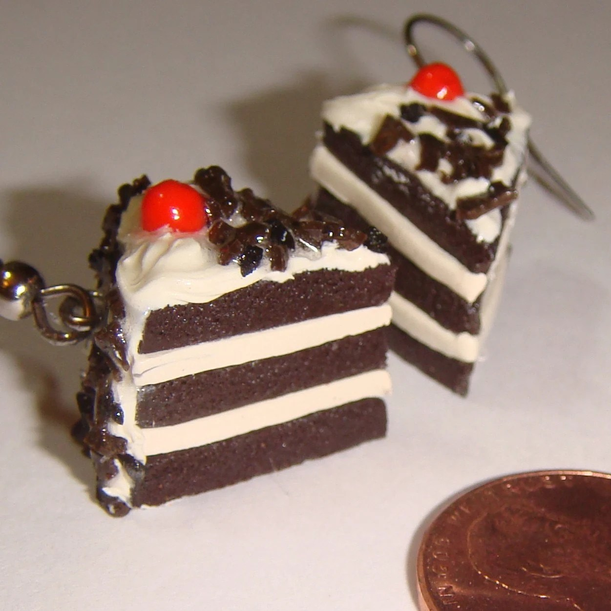 Black Forrest Chocolate Cake, Earrings