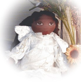 RESERVED for awomanonearth Arican American Angel Doll