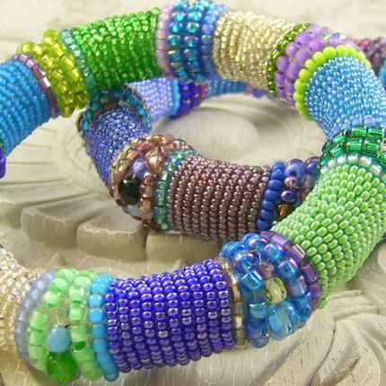 Custom Colorful Bangle Bracelet - etsyBEAD EBTW Sale BOUNTIFUL BRACELETS