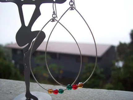 Holiday Hoop earrings by karitwiggdesigns